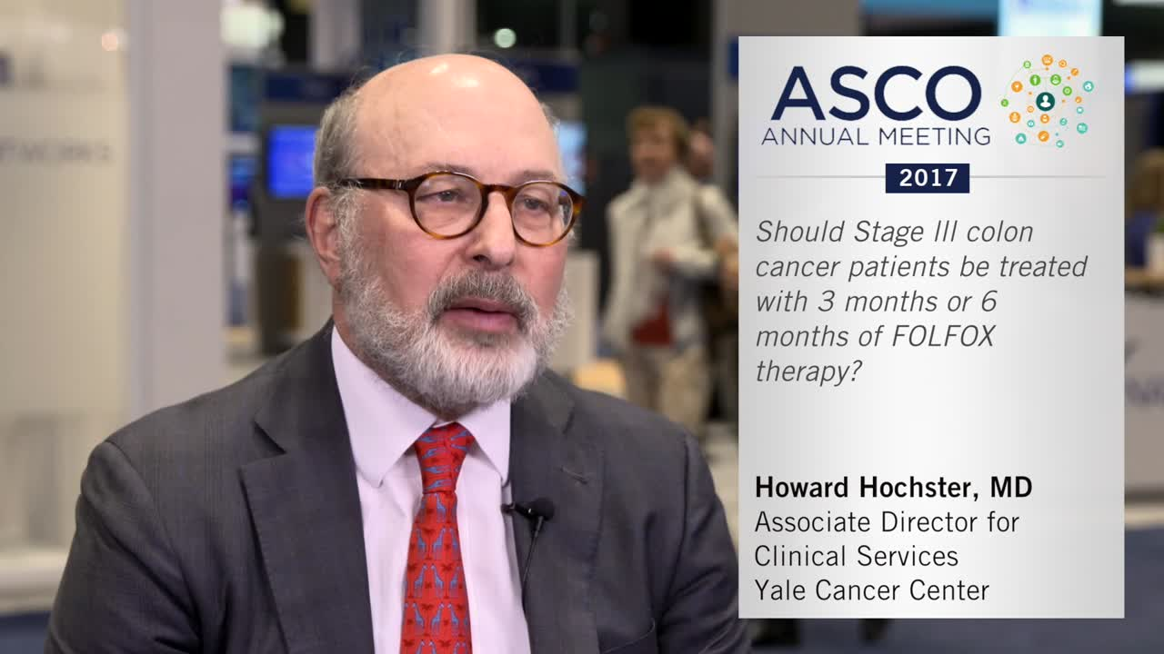 Should stage lll colon cancer patients be treated with 3 months or 6