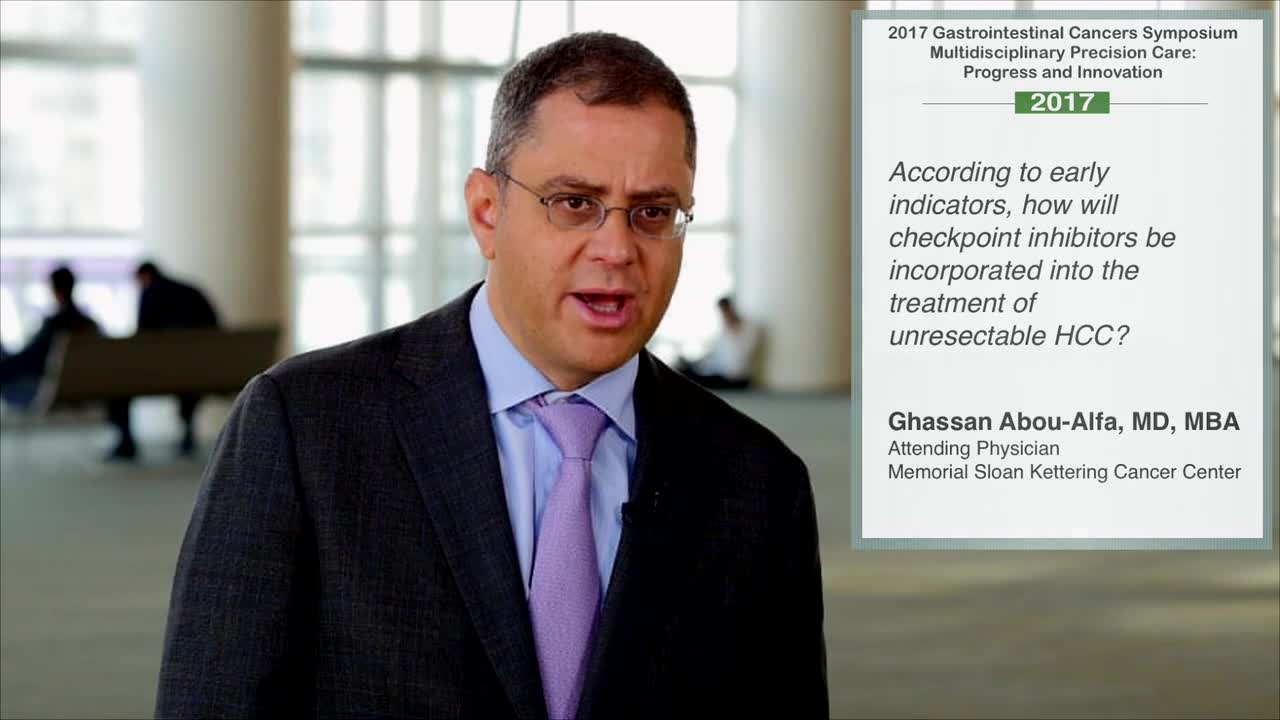 How Will Checkpoint Inhibitors Be Incorporated Into Unresectable HCC Treatment