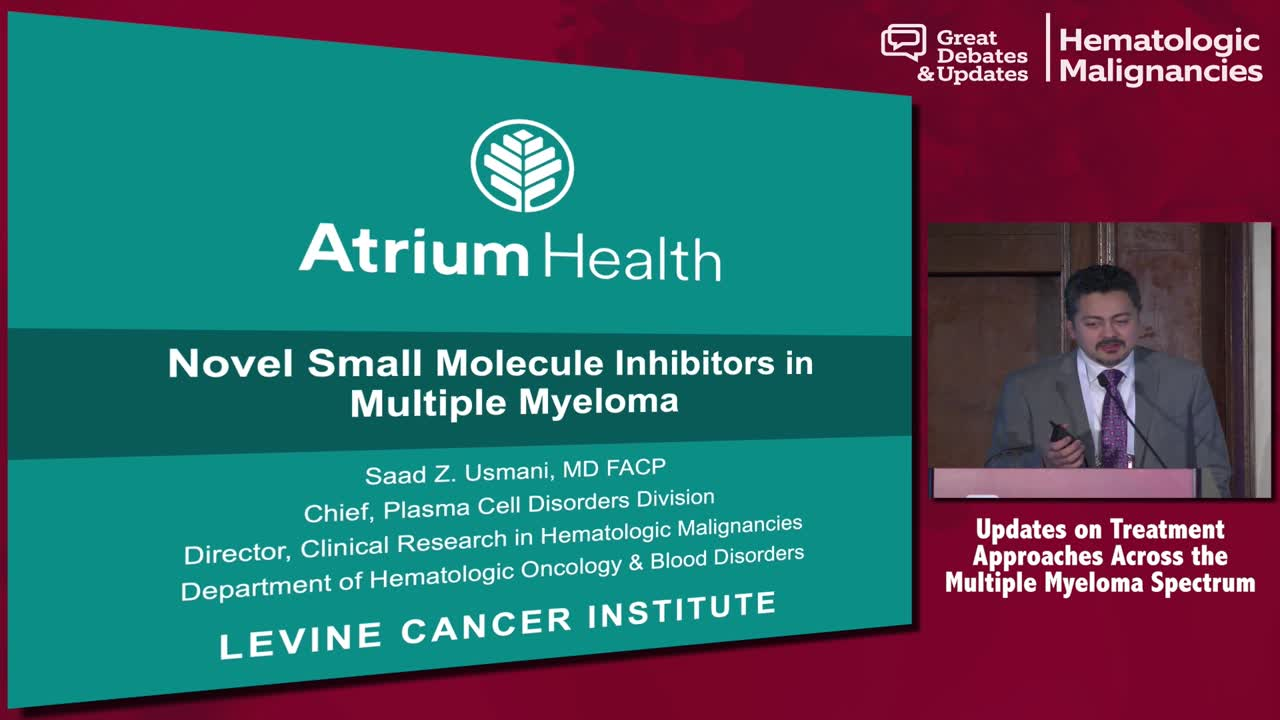 Novel Small Molecule Inhibitors in Multiple Myeloma