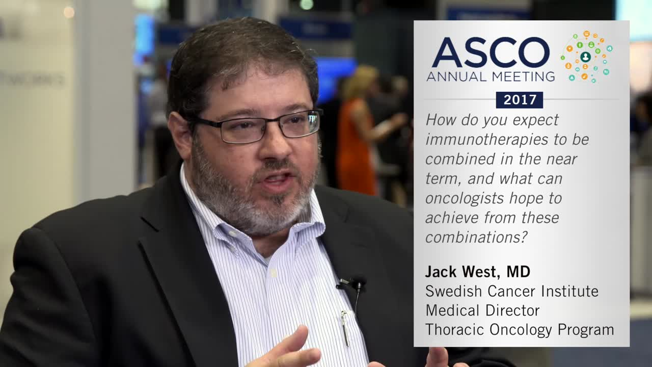 How do you expect immunotherapies to be combined in the near term?