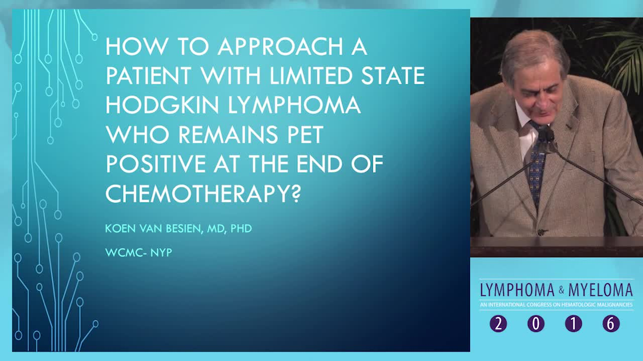 Debate: Limited state Hodgkin lymphoma patient who remains PET+ at the end of chemotherapy - SCT-based therapy