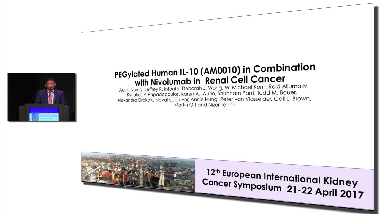 PEGylated Human IL-10 AM0010 in Combination with Nivolumab in Renal Cell Cancer
