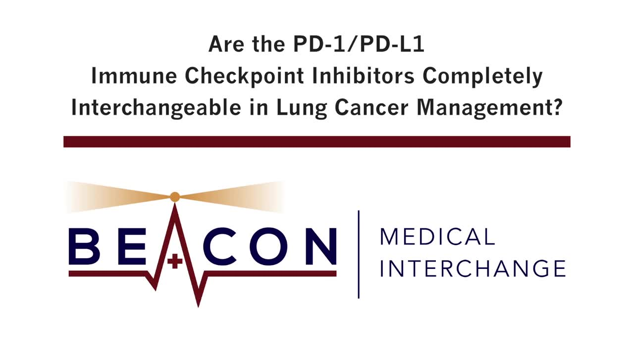 Are the PD-1/PD-L1 Immune Checkpoint Inhibitors Completely Interchangeable in Lung Cancer Management? (BMIC-015)