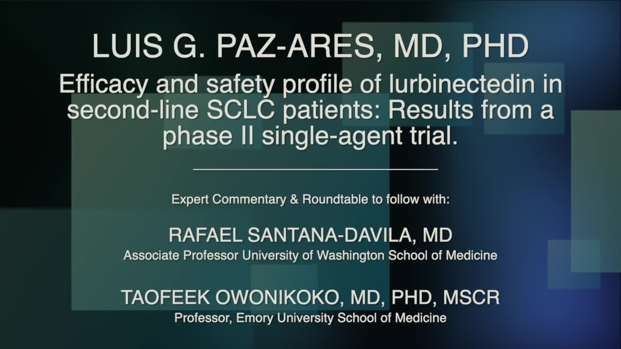 Efficacy and safety profile of lurbinectedin in second-line SCLC patients: Results from a phase II single-agent trial