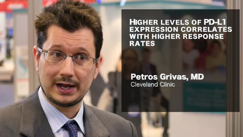 Higher levels of PD-L1 expression correlates with higher response rates