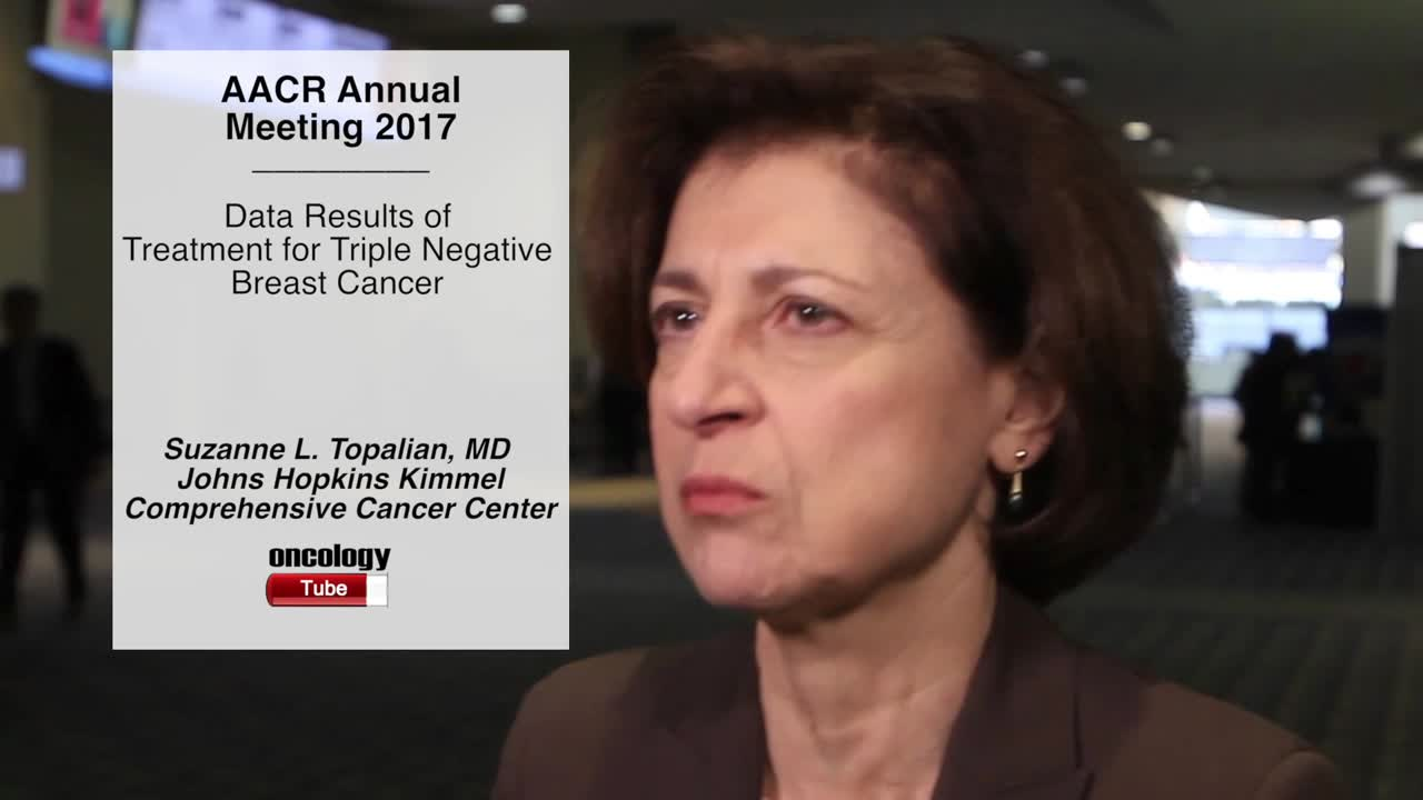 Data Results of Treatment for Triple Negative Breast Cancer