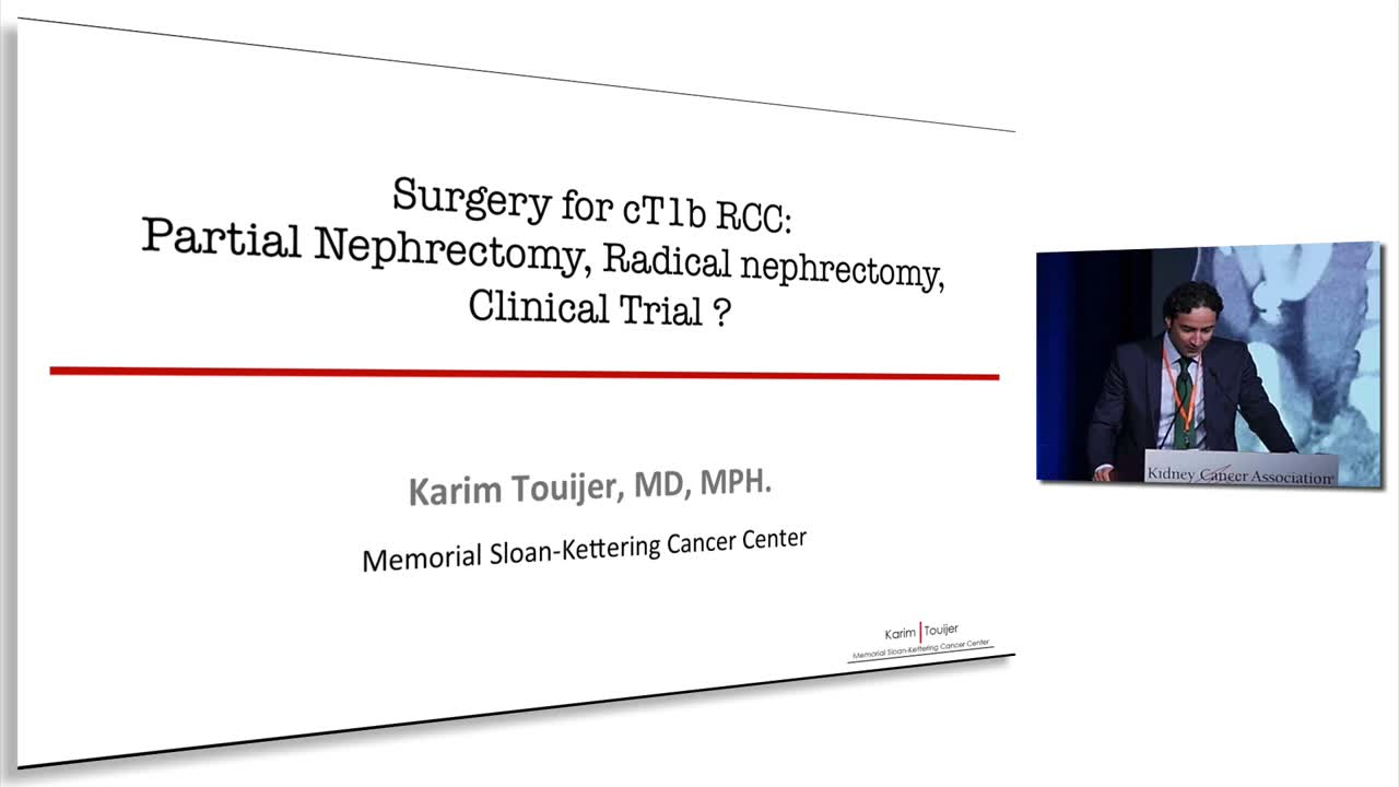 Surgery for cT1b RCC: Partial Nephrectomy, Radical nephrectomy,  Clinical Trial ?
