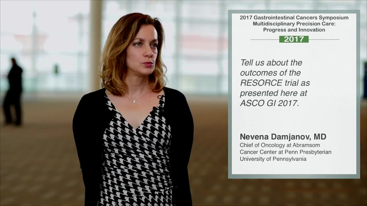 Outcomes of RESORCE Trial at Annual Meeting GI 2017