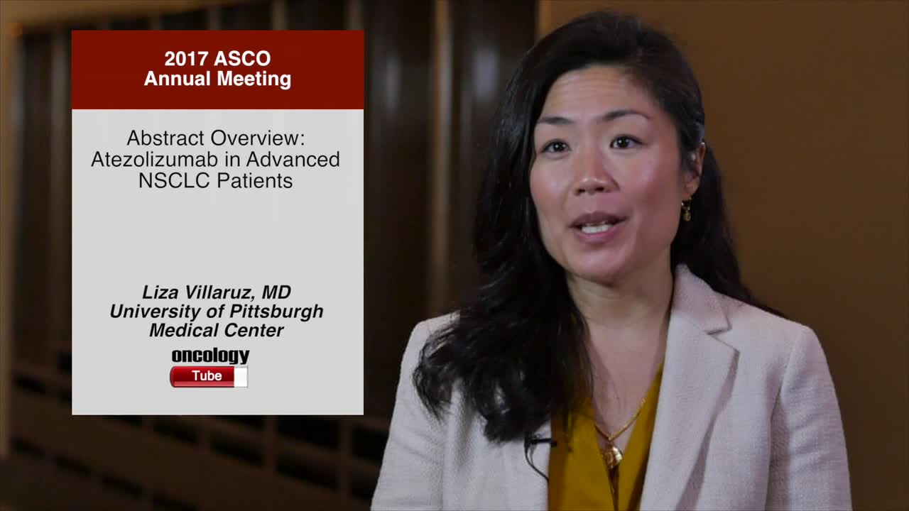 Abstract Overview: Atezolizumab in Advanced NSCLC Patients