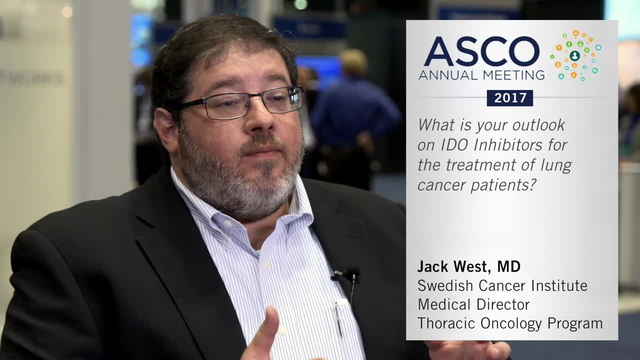 IDO inhibitors for treating lung cancer