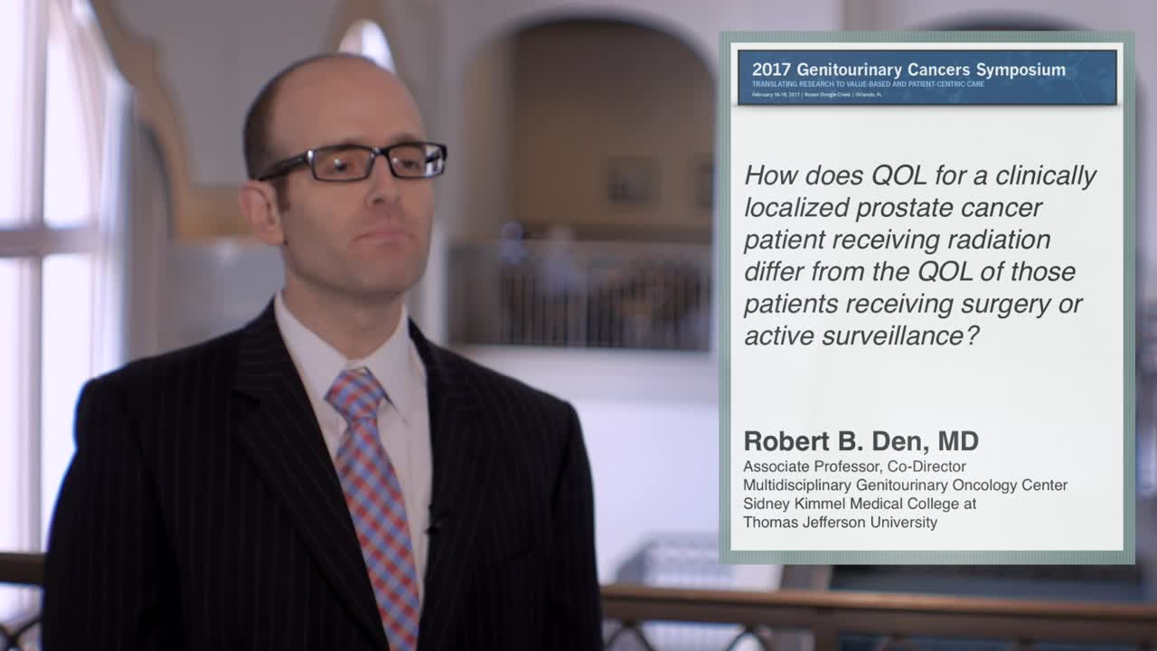Quality of Life for Prostate Cancer Patients: Radiation versus Surgery/Active Surveillance