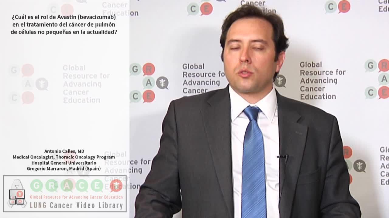 ¿Cuál es el rol de Avastin (bevacizumab) en el tratamiento del cáncer de pulmón de células no pequeñas en la actualidad?