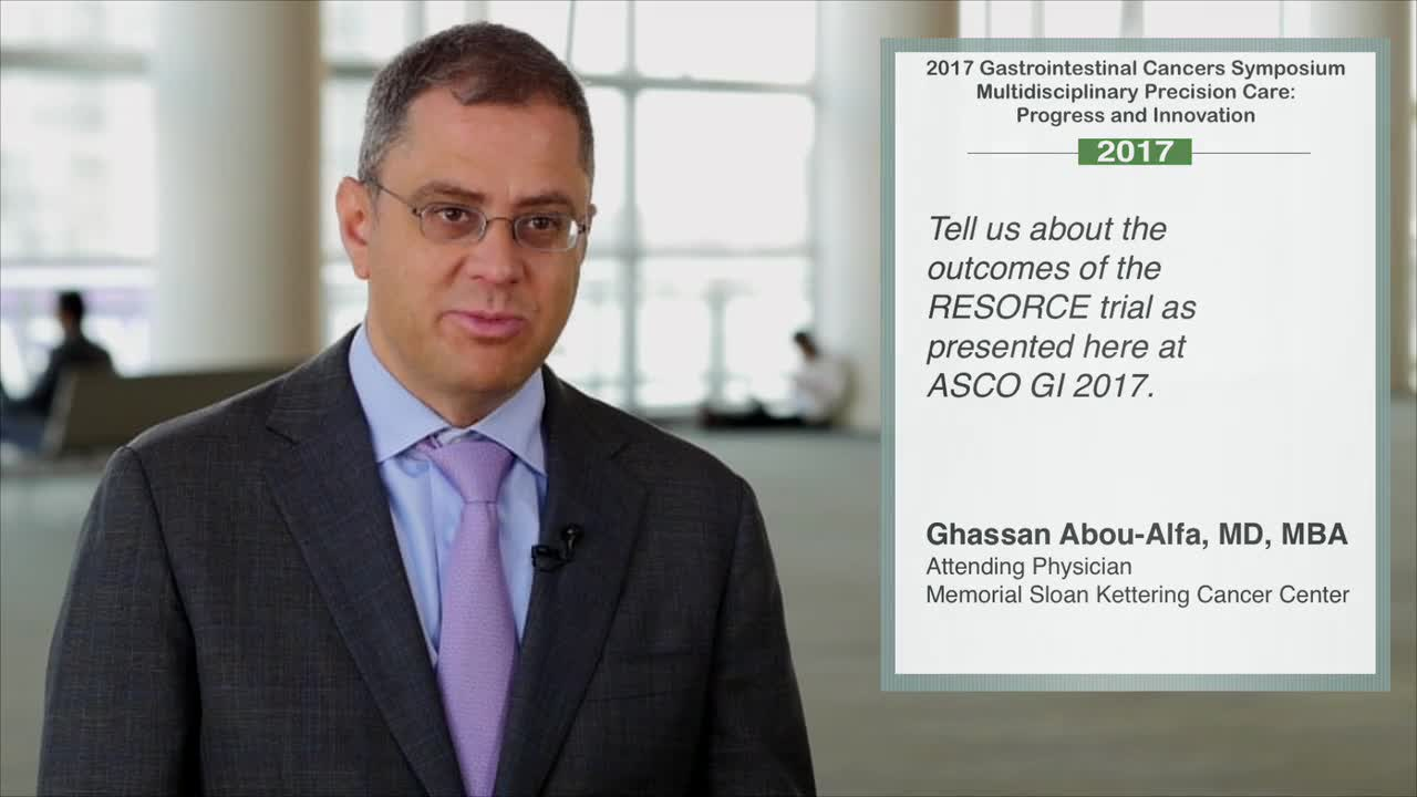 Annual Meeting GI 2017: RESORCE Trial Outcomes