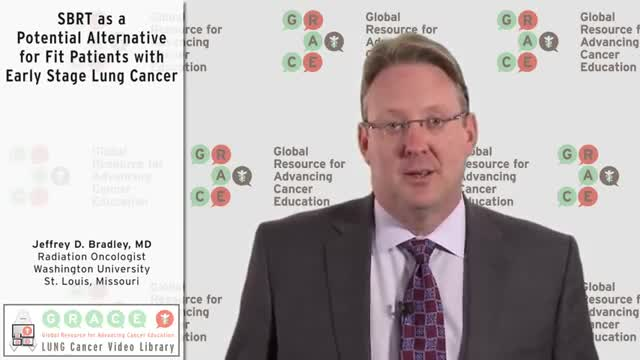 SBRT as a Potential Alternative for Fit Patients with Early Stage Lung Cancer [360p]
