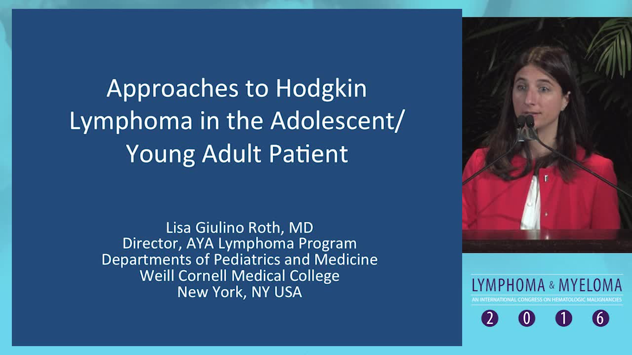 How should we approach the adolescent/young adult Hodgkin lymphoma patient?