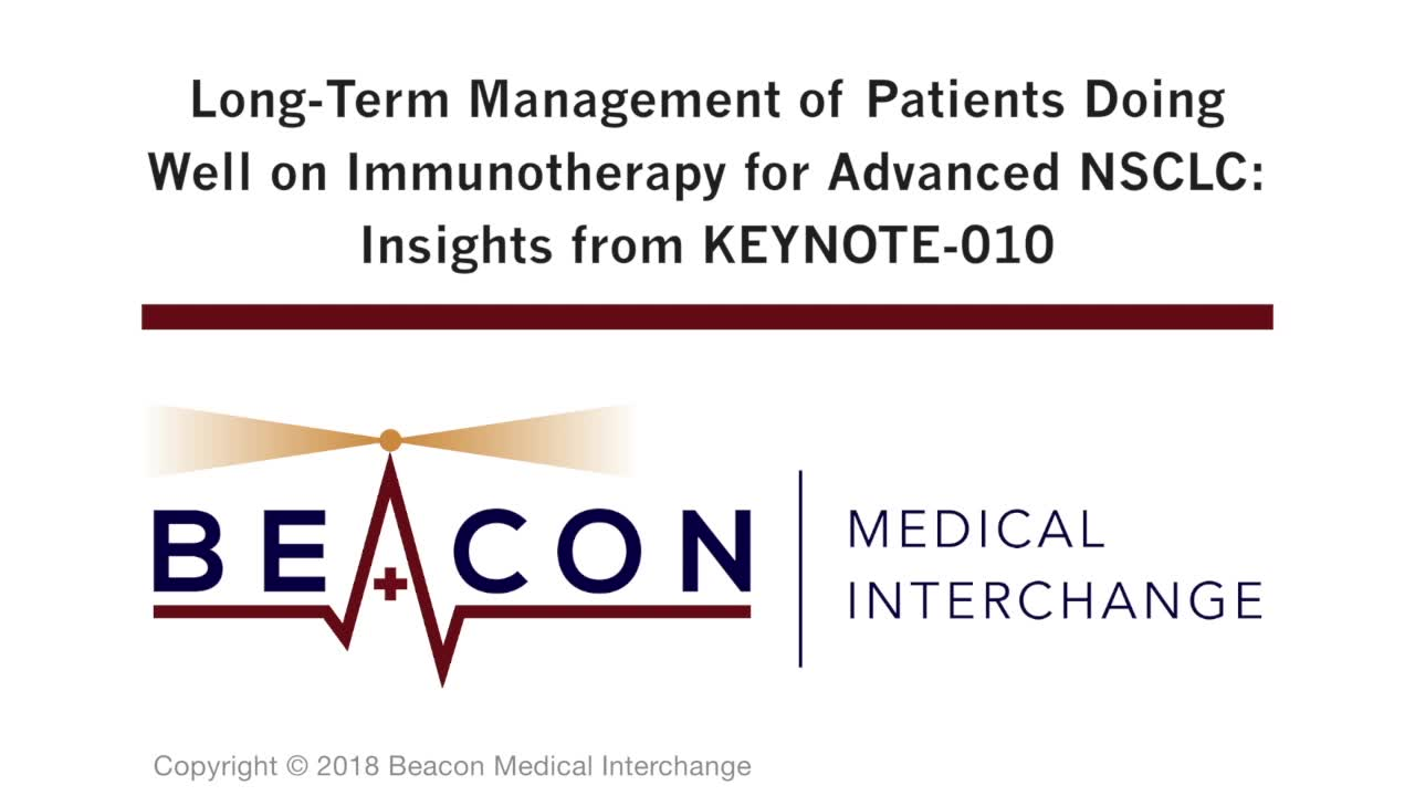 Long-Term Management of Patients Doing Well on Immunotherapy for Advanced NSCLC: Insights from KEYNOTE-010 (BMIC-066)