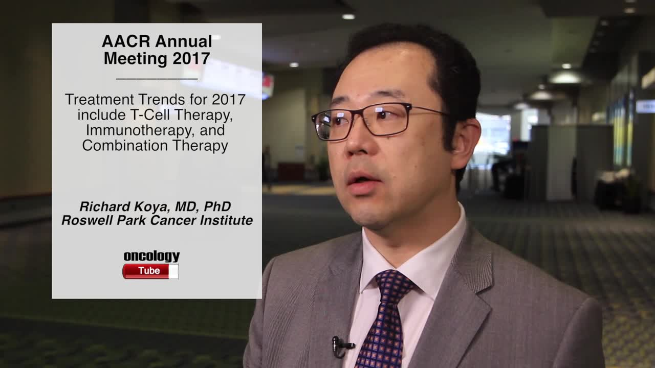 Treatment Trends for 2017 include T-Cell Therapy, Immunotherapy, and Combination Therapy