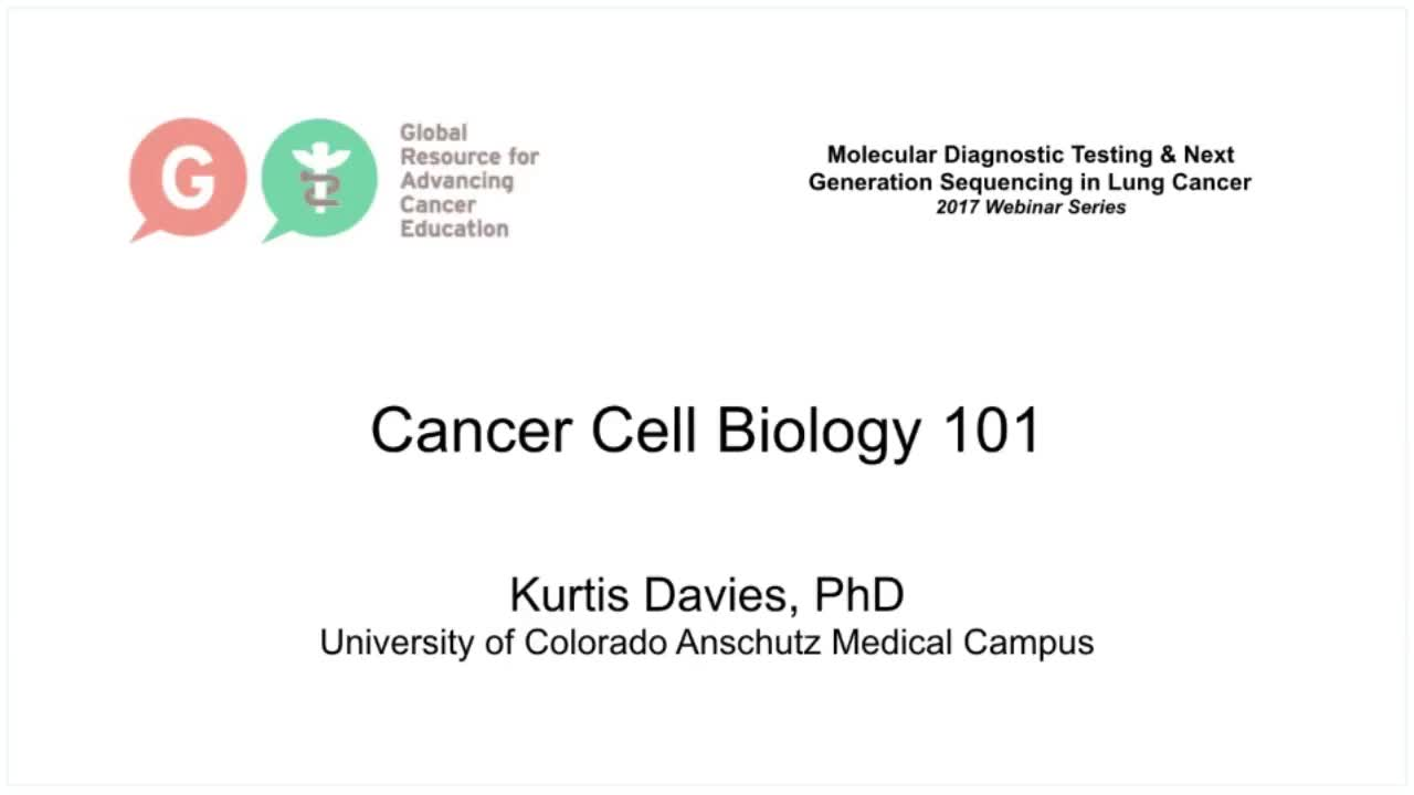 Cancer Cell Biology 101 Davies