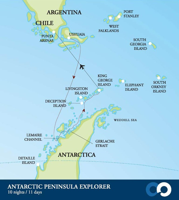 Join One Ocean Expeditions on an adventure cruise to Antarctica with our 'Antarctic Peninsula Explorer' travel package.