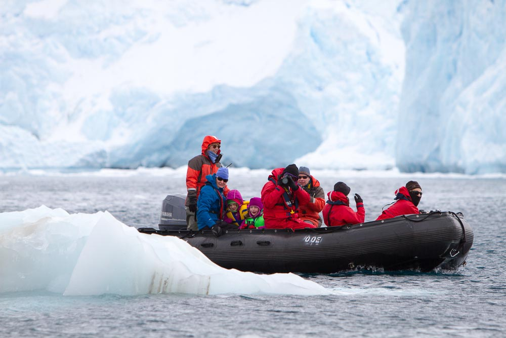 Join an expedition cruise to Antarctica and view icebergs in all sizes and shapes either from the expedition cruise ship or while on excursions with experienced expedition staff. Image: David Sinclair