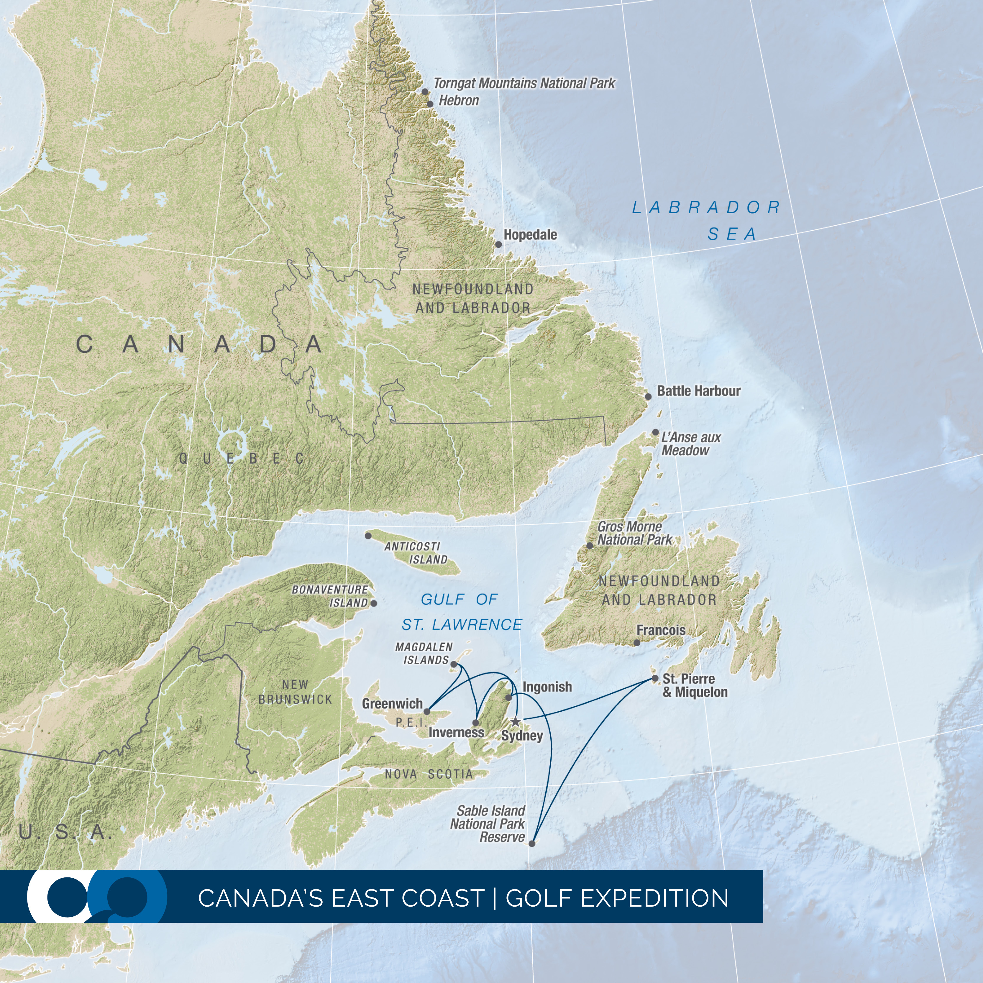 One Ocean Expeditions explores Sable Island, Nova Scotia and Prince Edward Island on a seven night expedition cruise while stopping at internationally renowned golf courses.