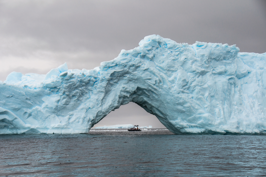 Travel and view icebergs and glaciers of all formations on a One Ocean Expeditions vacation in Antarctica.