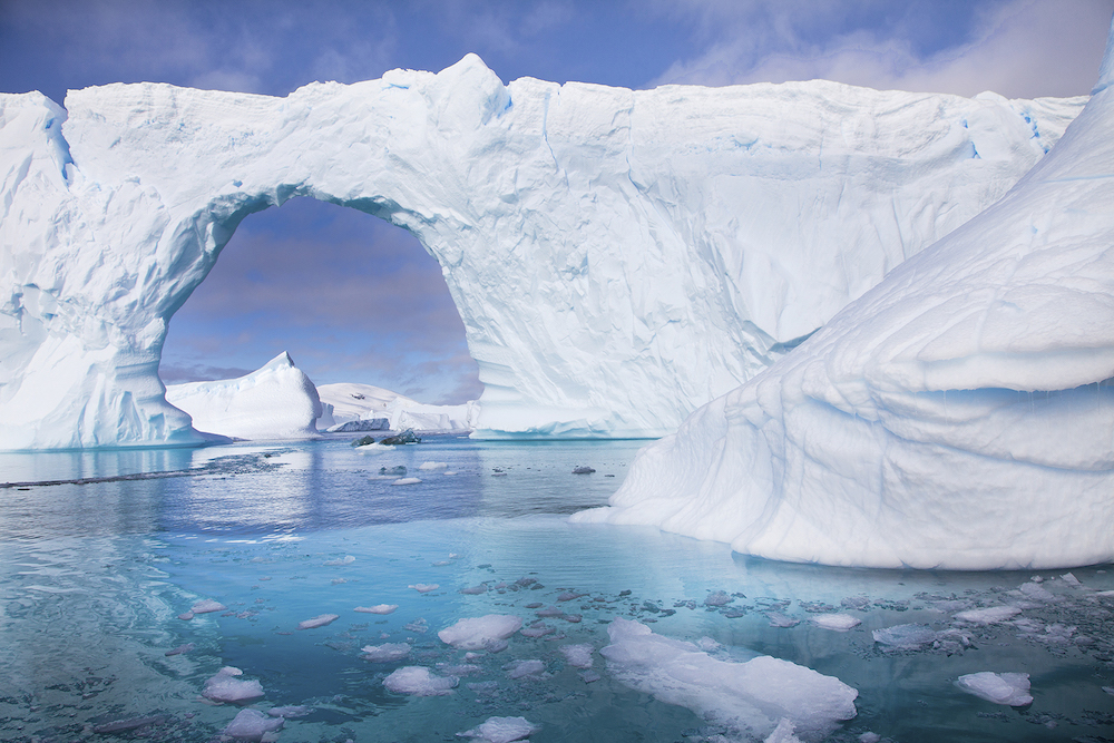 Icebergs in all sizes and shapes can be viewed on an expedition cruise with One Ocean Expeditions to Antarctica. Image by Ira Meyer.