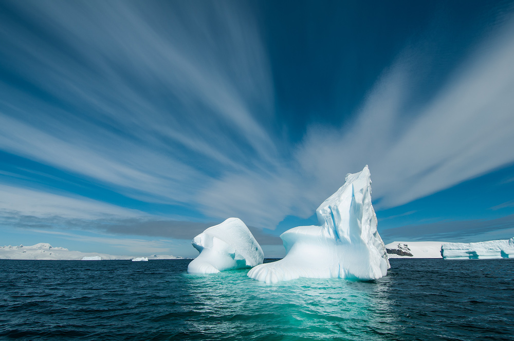 Antarctic travel vacations make your dreams come true and you can view icebergs in all shapes and formations from your polar built expedition ship. Image by David Sinclair