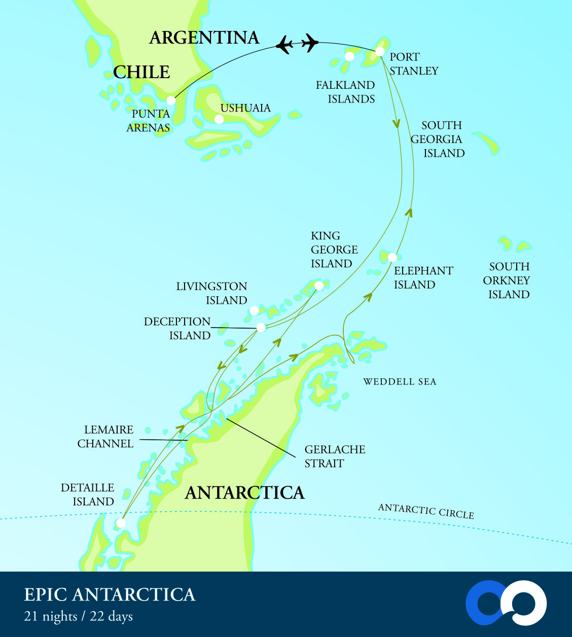 Antarctic vacation for more than 20 days in Antarctica. Travel on an expedition cruise ship to Antarctica and explore the Antarctic wildlife in depth.