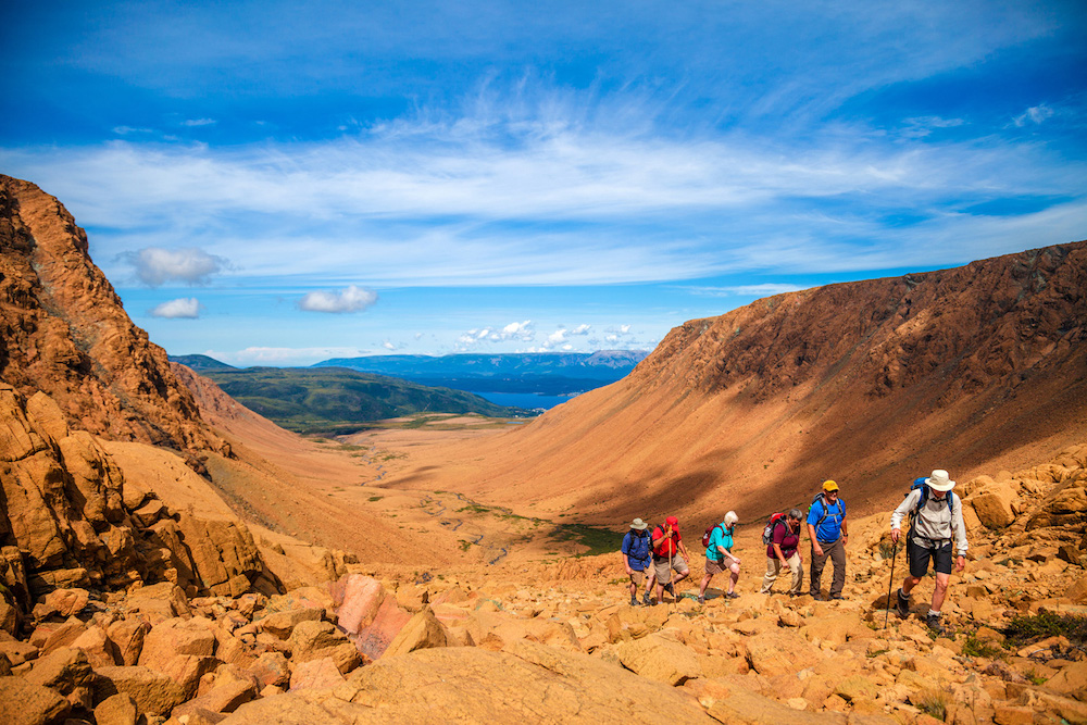 One Ocean passengers take advantage of day hikes throughout their voyage in Newfoundland and Labrador.