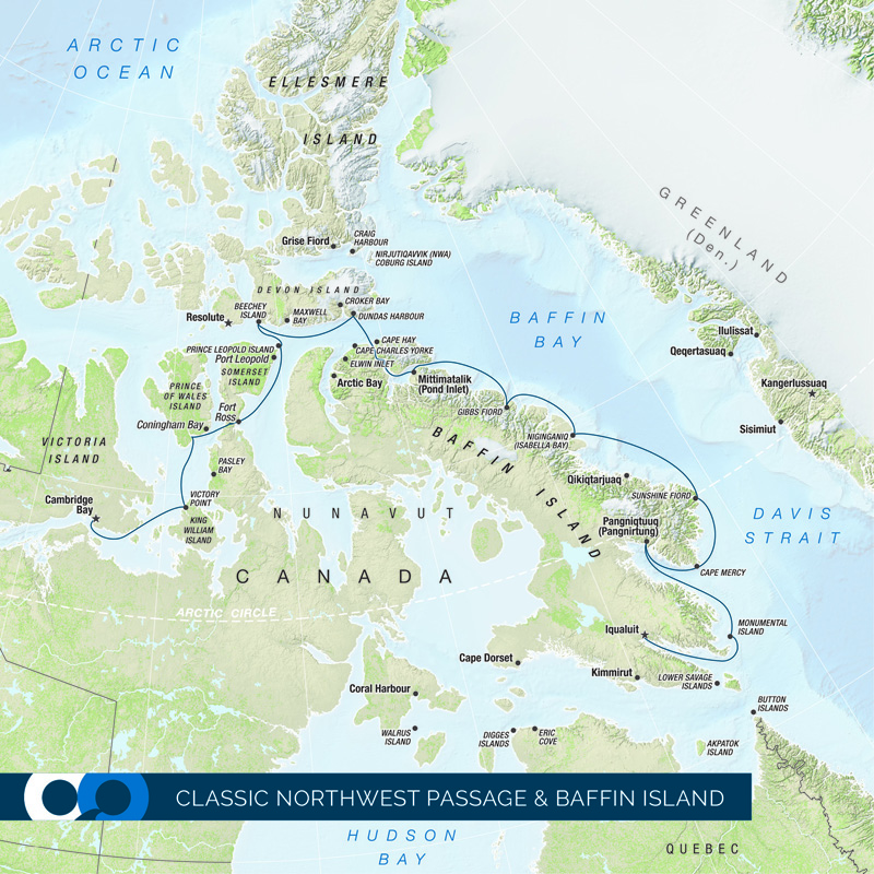 Join an expedition cruise through the Northwest Passage in Canada's Arctic and follow Franklin's footsteps.