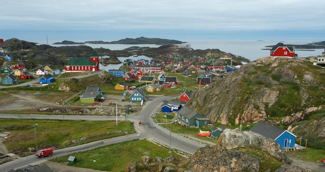 Join a One Ocean Expeditions cruise ship to Greenland and explore Inuit towns in the Arctic.