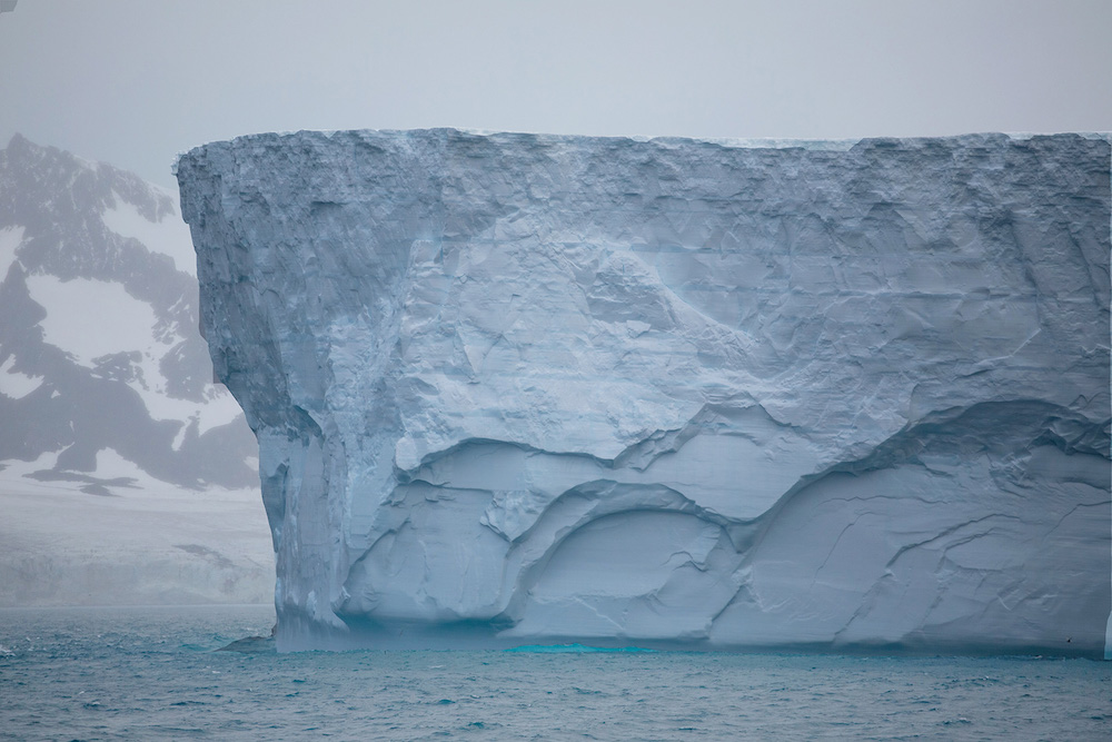 A One Ocean Expeditions polar expedition sails into the Weddell Sea to see tabular icebergs. Photo: Ben Haggar
