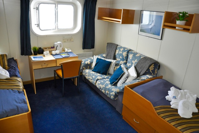 Superior Cabin, One Ocean Expeditions. Photo: Cathy Lawton