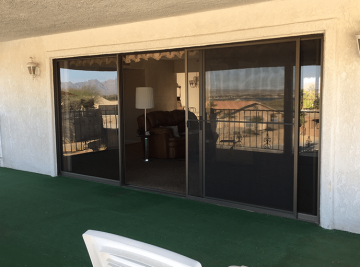Large energy efficient sliding glass doors in Surprise, Arizona by Efficient Home Pro