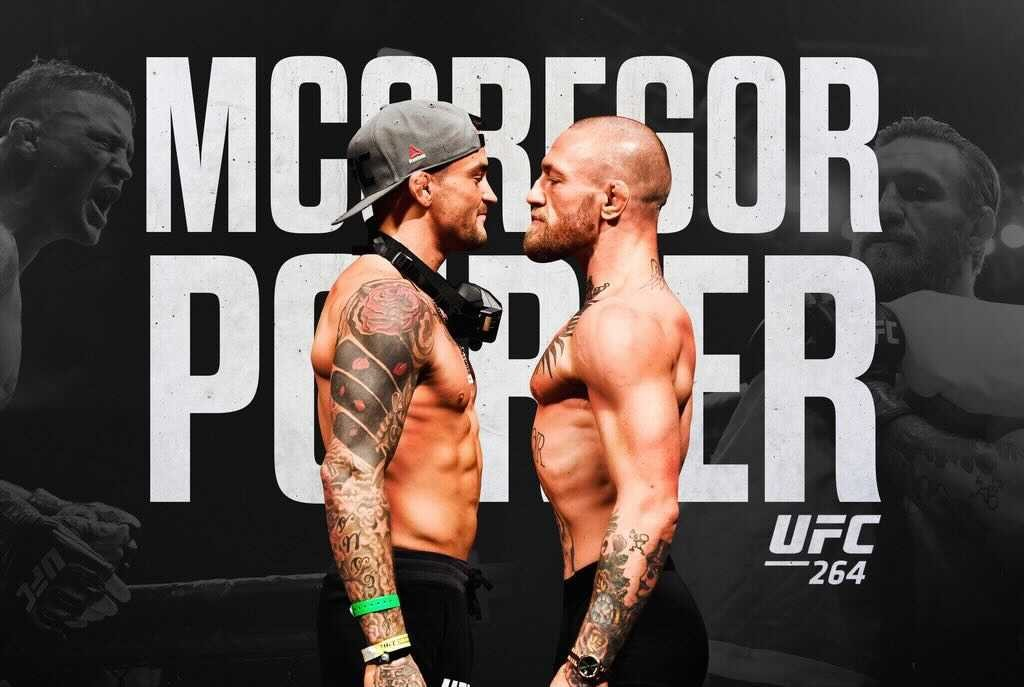 It's Conor McGregor vs Dustin Poirier in the finale of their fighting trilogy