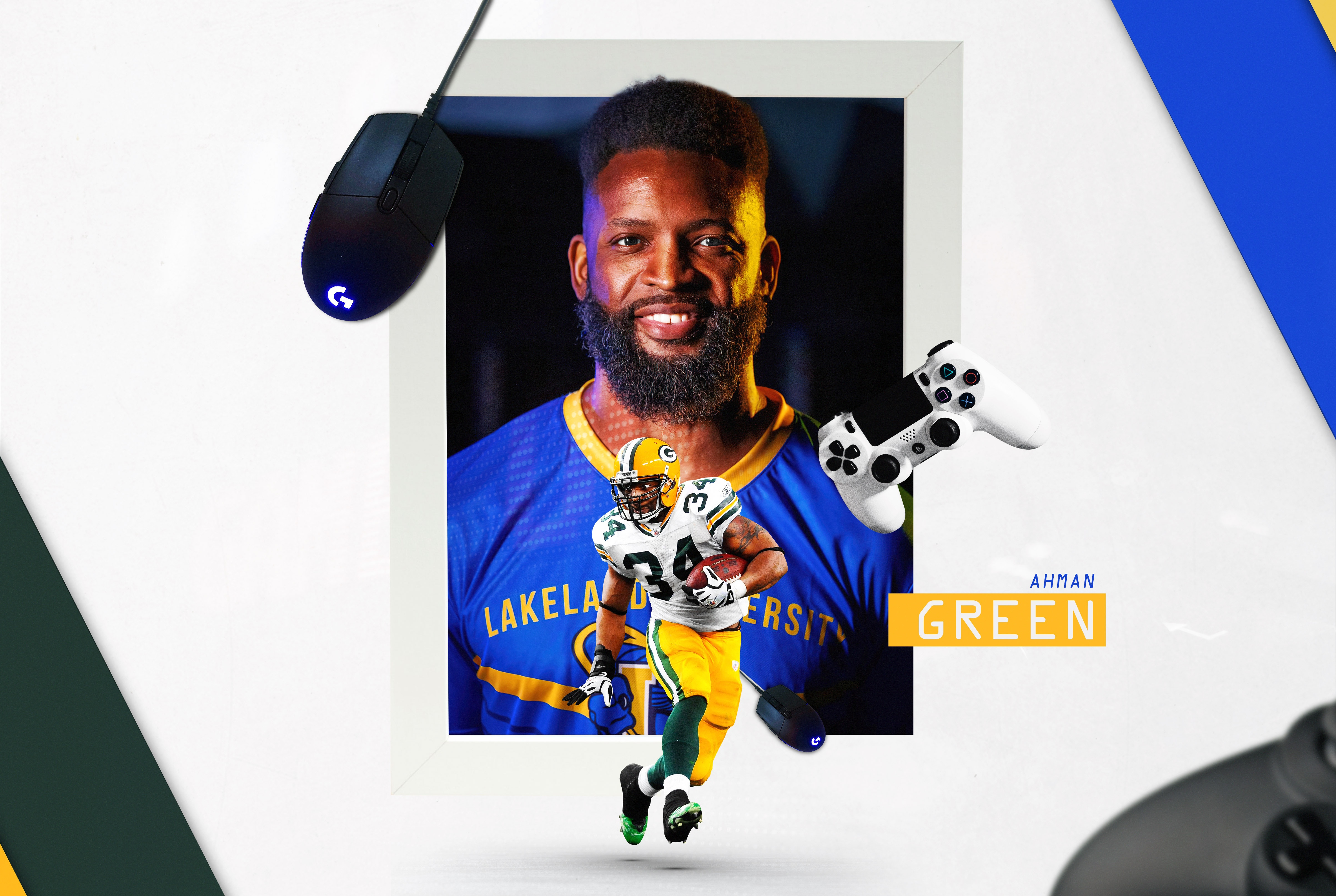Ahman Green has transitioned from running the football to running an esports team at Lakeland University