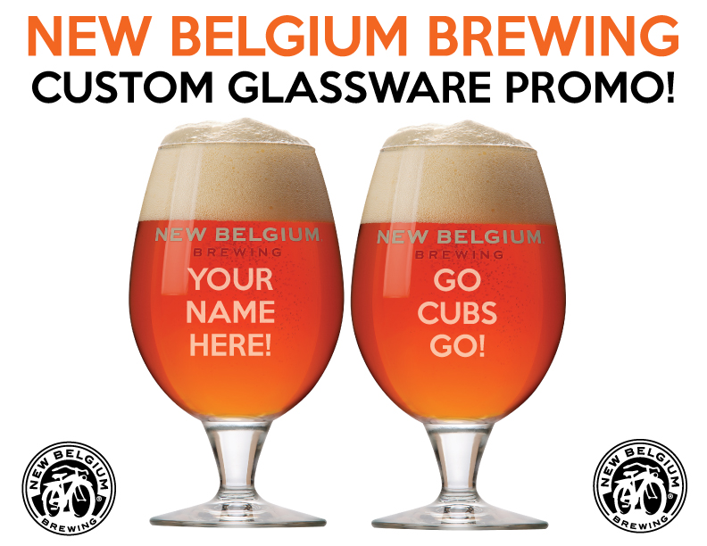 New Belgium Custom Glass Promotion