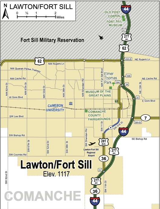 Lawton/Ft. Sill Map