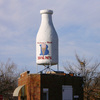 The Milk Bottle Building is a wedge-shaped building near the intersection of three alignments of Route 66 in Oklahoma City.