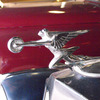 This sleek hood ornament graces a vintage Packard at Afton Station, a museum located in a restored D-X gas station on Route 66 in Afton.