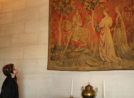 A tapestry at the Marland Mansion in Ponca City, former home of oil baron E.W. Marland.