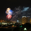 The Oklahoma City skyline lights up with fireworks on the 4th of July.