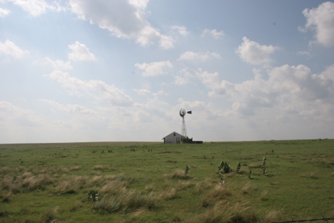 A little house on the Great Plains creates a picturesque prairie scene near Guymon.