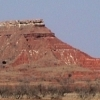 The Gloss Mountains in northwestern Oklahoma sparkle in the sunlight because they are rich in selenite crystals.