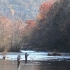 Trout fishing is a popular pastime on the Mountain Fork River in Beavers Bend State Park.