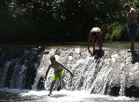 The Little Niagara area is a popular spot for swimming in Travertine Creek at the Chickasaw National Recreation Area in Sulphur.