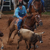 Team ropers compete at the International Finals Youth Rodeo in Shawnee.