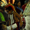 A young American Indian dancer at the Standing Bear Powwow in Ponca City.