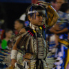 An adorable young participant at the Standing Bear Powwow in Ponca City.